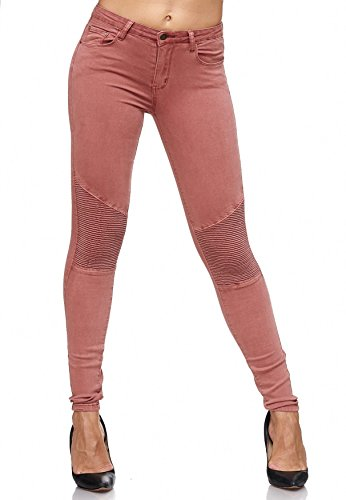 Hipsters Coutures Rose Stretch Panel Effect Vieux ArizonaShopping Jeans Jeans Femmes Knee Hipsters Jeans D2081 Biker SnxPwOz4WZ