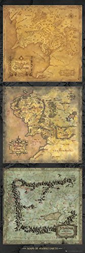 Amazoncom The Lord Of The Rings Door Movie Poster Maps Of
