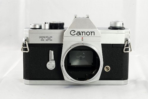 Canon TX SLR manual focus film camera body; no lens (Manual Canon Camera Focus)