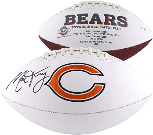 Mitchell Trubisky Chicago Bears Autographed White Panel Football - Fanatics Authentic Certified - Autographed Footballs