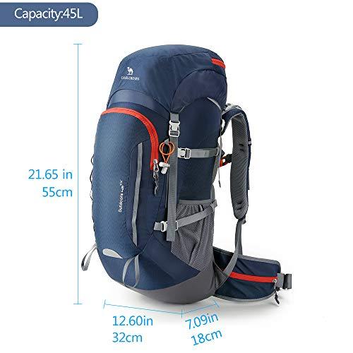46adbea7a CAMEL CROWN 45L Hiking Backpack Women/Men Large Lightweight ...
