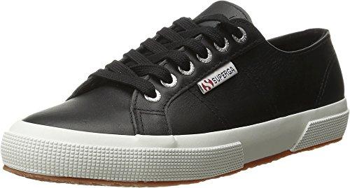 Superga Women's 2750 Fglu Wt Fashion Sneaker, Black, 39.5 EU/8.5 M US
