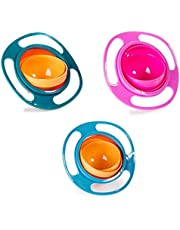 Children Baby Kids Bowl 360 Degree Rotation Spill Resistant Gyro Magic Bowl with Lid
