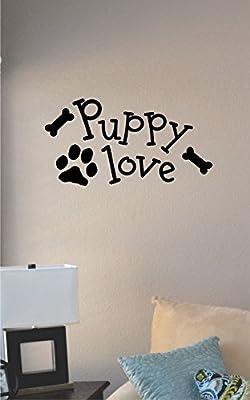 Puppy Love Vinyl Wall Art Decal Sticker