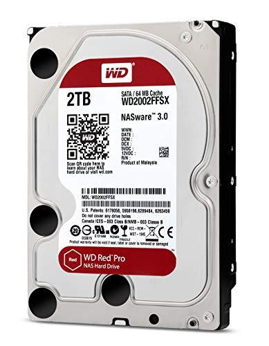 Pro 2TB 3.5-Inch SATA III 7200rpm 64MB Cache NAS Internal Hard Drive (WD2002FFSX) ()