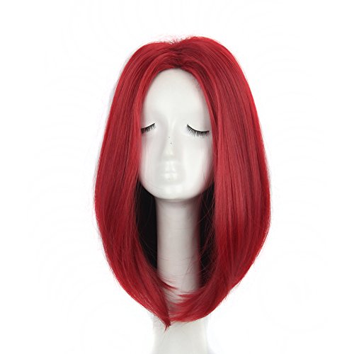 Costume X Mystique Men (Yuehong Red Wig Synthetic Anime Cosplay Wig for women Heat)