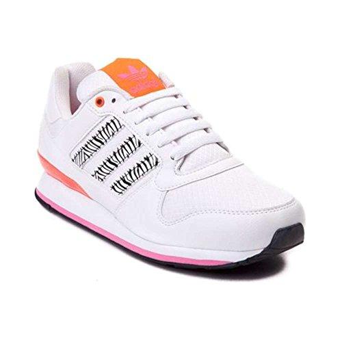 Adidas Kvinners Zxz Wlb Lav Topp Snøring Basketball, Hvit / Orange / Rosa,  ...