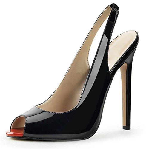 Kolnoo - Zapatos con tacón Mujer Patent