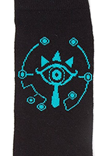 Zelda - Breathe of the Wild Sheikah Eye Unisex Calcetines - Negro, Taille:43/46: Amazon.es: Ropa y accesorios