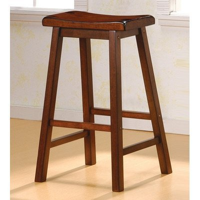 29 Inch Saddle Seat Wood (Coaster 29-Inch Dining Barstool, Walnut Set of 2)