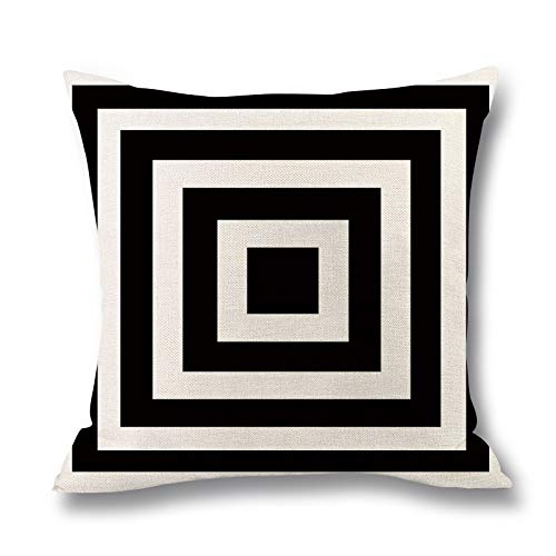 Begleri Throw Pillow Covers,Stripe Throw Pillow Covers for Sofa Living Room Car 18 x 18 Inches,4 Pack.