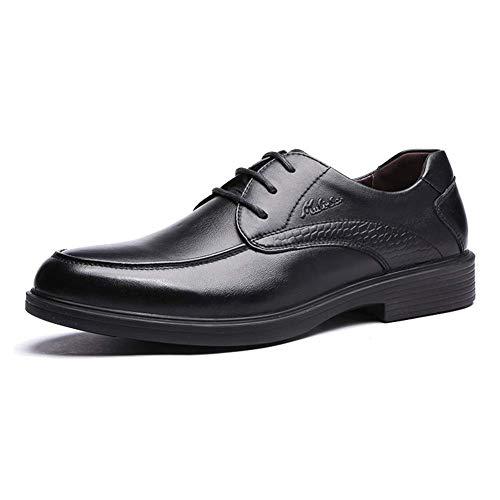 Mocasines de cuero de los la negocios Zapatos para MARRÓN hombres cordones para boda cómodos color vestido hombres los de de hombres Derby de Zapatos los tamaño Negro formales de 8 arriba US de del 9 Og5wEE