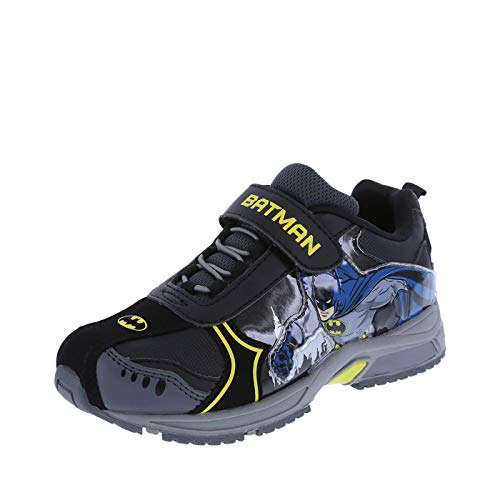 Batman Boys' Black Boys Light-Up Runner 1.5 Regular -