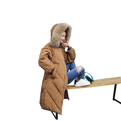 Outwear Inverno Un Nihiug Tratto Piumino Del Lungo Ginocchio Piumino Cotone Pelliccia Collare Cappotto Di Grande 5BafBS