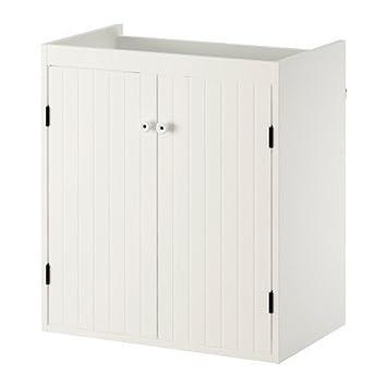 Ikea Silveran White Vanity Unit With 2 Doors 60x25x68 Cm
