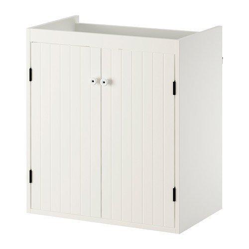 Ikea silverån Lavaggio comò in Bianco; con 2 Porte; Casa e ...