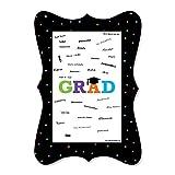 Big Dot of Happiness Hats Off Grad - Unique Alternative Guest Book - Graduation Party Signature Mat