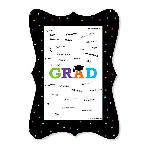 Hats Off Grad - Unique Alternative Guest Book - Graduation Party Signature Mat