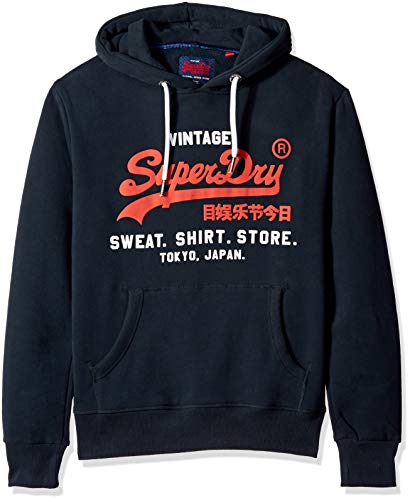 Superdry Men's Storm Softshell Hybrid Zip Hooded Jacket, Eclipse Navy, - Hybrid Eclipse