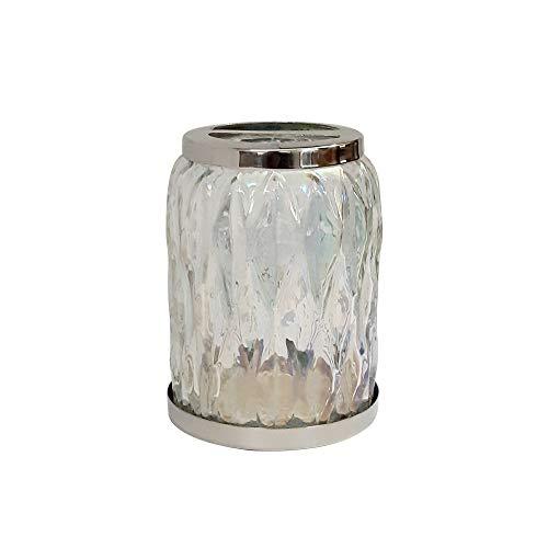 (nu steel Glacier Toothbrush Holders Storage, Bath Collection, Bathroom Vanity Countertops, Glass Rainbow Lustre Finish)