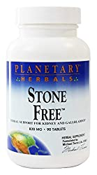 Planetary Herbals Stone Free is a unique combination designed to support the kidneys, liver and gallbladder. Dandelion root and turmeric root are bitter substances which support the body's normal bile flow.
