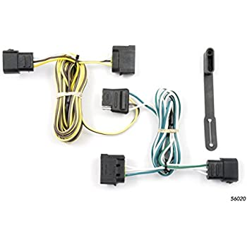 curt 56020 vehicle-side custom 4-pin trailer wiring harness for select ford  e-series e-150, e-250, e-350