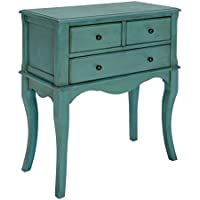 HOMES: Inside + Out IDF-AC137TL Shivonne Hallway Cabinet, Antique Teal