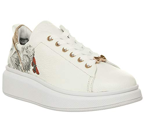 (Ted Baker Ailbe 3 Womens White Narnia Leather Sneakers-UK 7 / EU 40)