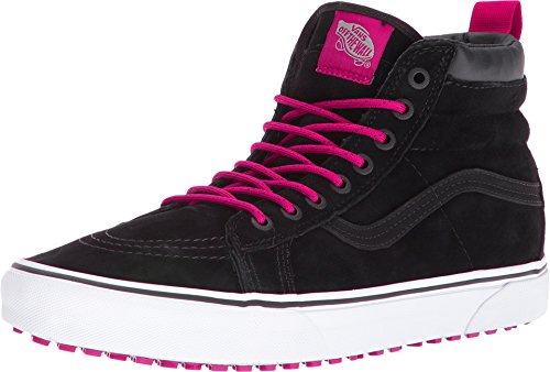 (Vans Men's SK8-Hi (MTE) Black/Beet Red Skateboarding Shoes (8.5 Women / 7 Men M US))