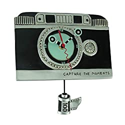 Allen Designs Vintage Camera Pendulum Wall Clock