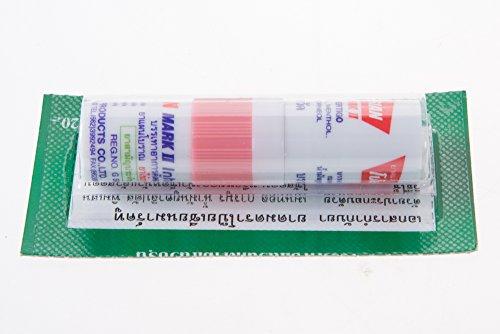 Thai Herbal Inhaler Nasal POY SIAN MARK II (Light Pink) Oil Cold Menthol (Generic Inhaler)