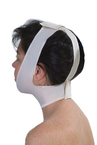 Elastic Face (Post Surgical Facelift Elastic Band | Neck & Chin Liposuction Compression Garment - ContourMD : Style 330(Large))