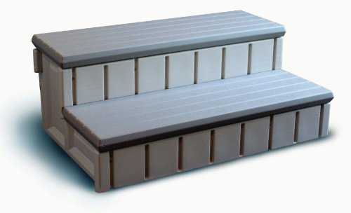 Confer Plastics Spa Step with Storage - Redwood by Confer Plastics
