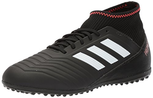 adidas Originals Unisex-Kids Ace Tango 18.3 TF J Soccer Shoe, Core Black/White/Solar Red, 6 M US Big Kid Black Indoor Soccer Shoes