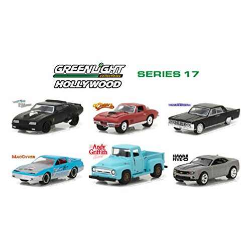 Price comparison product image Hollywood Series / Release 17,  6pc Diecast Car Set 1 / 64 by Greenlight 44770