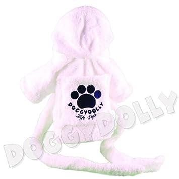 71fed1afe2694a Doggydolly Hunde-Bademantel weiß Mops, Bulldogge Frottee: Amazon.de ...
