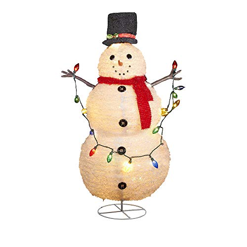 Kurt Adler Lighted Collapsible Snowman, 48-Inch ()