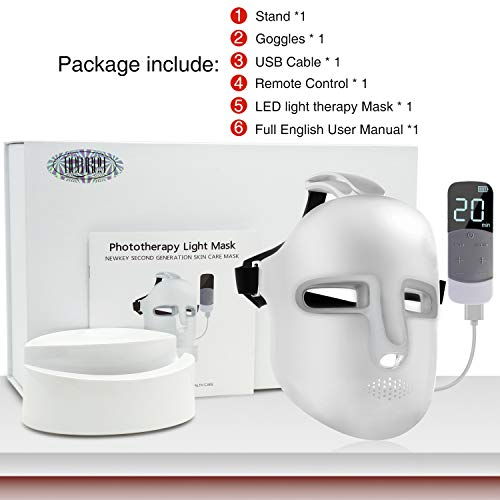 NEWKEY Led Light Therapy Facial Mask - Uses Newest Red / Blue / Yellow Light Therapy For Skin Rejuvenation | Whitening|Anti Aging | Smoothening Wrinkles | Weakening Scarring | Lighter Weight And More Comfortable by NEWKEY (Image #7)