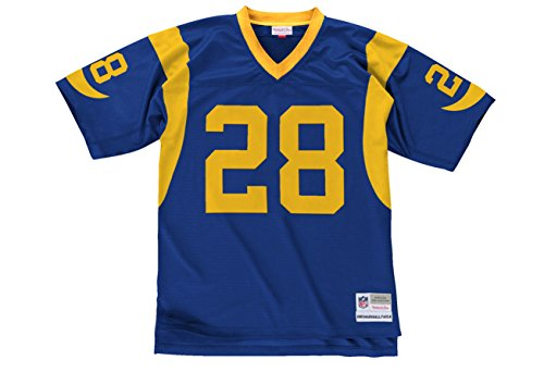 ell & Ness 1999 Marshall Faulk #28Replica Throwback Jersey (XL) (Mitchell Black Football Jersey)