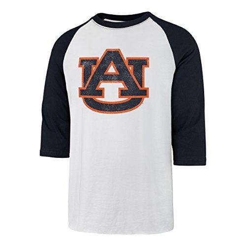 (NCAA Auburn Tigers Men's Ots Rival Raglan Distressed Tee, Large, White Wash)