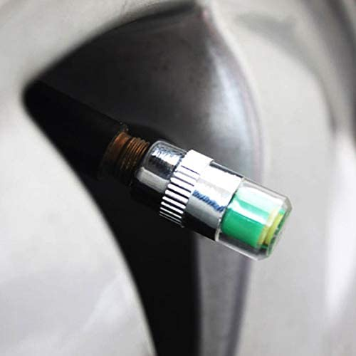 SMXGF 4Pcs Car Tire Pressure Monitoring System Tire Pressure Sensor Car Tire Pressure Alarm Car Tire Air Valve Cover Air Alarm Sensor