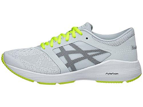 ASICS Womens Roadhawk FF Sneaker, Glacier Grey/Black/Safety Yellow, Size 9