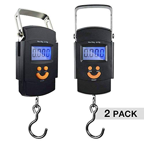 PARTYSAVING [2-Pack] Hanging Electronic Travel Scale for Luggage with Digital LCD Screen, APL1439 (Best Rated Weed Strains)