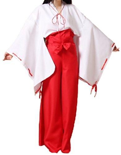 [PEPUJP Japanese Shaman Cosplay Costume Kimono Shrine Anime Character Halloween (M)] (Black Suit Spiderman Costume 10-12)