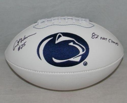 - Curt Warner Autographed Signed Penn State Nittany Lions Logo Football - JSA Certified - Autographed College Footballs