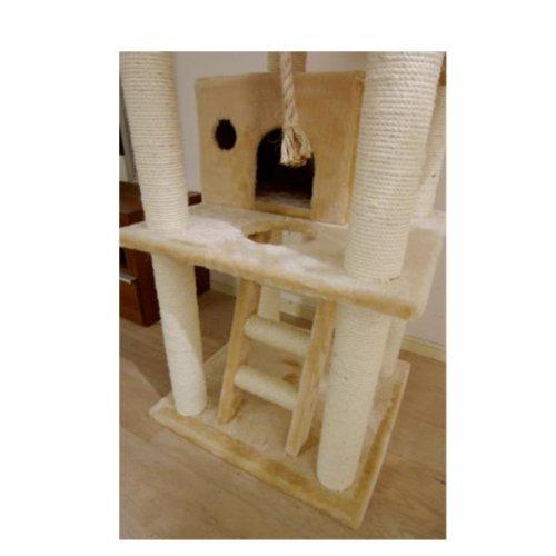 Catland Floor To Ceiling Cat Tree W Hiding Box Pedestals