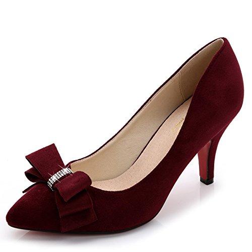 Con Señaló Femeninos 7cm Y Singles Rojo Delgado GAOLIM Zapatos Vino Mujer Los Zapatos De Pro Trabajo Tacón De Pajarita Zapatos Alto De Los Luz Zapatos De Zapatos En Boda rojo xxatPq