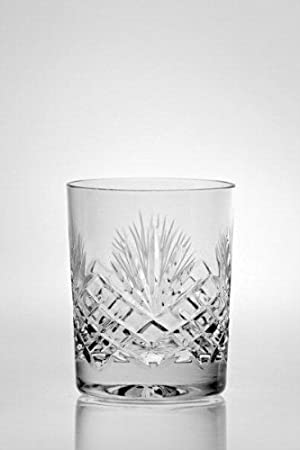 Lot De 6 Verres à Whisky En Cristal   Décoration Taillée   Majestic