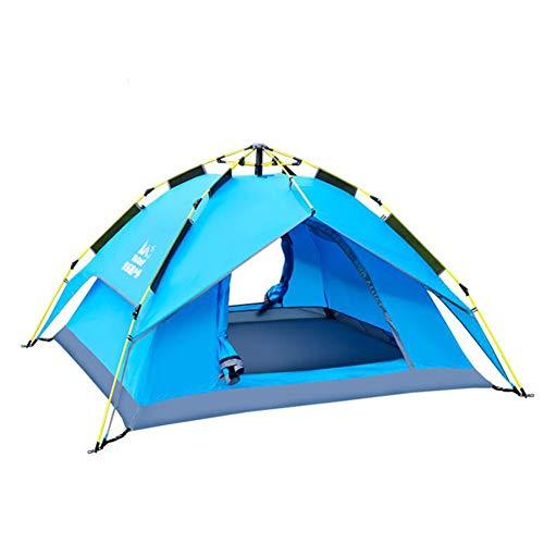 モールス信号こねる過ちDALL テント テント アウトドア 自動 ポップアップ キャンプのテント 耐寒性 日焼け止め (色 : 青)