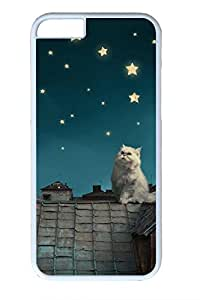 Cats On The Roof Slim Soft Cover for iPhone 6 Plus Case ( 5.5 inch ) PC White Cases